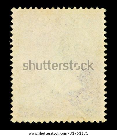 Post stamp frame - stock photo
