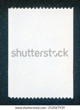 post stamp reverse side isolated on black - stock photo