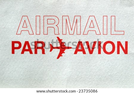 Postage letter envelope for air mail shipping
