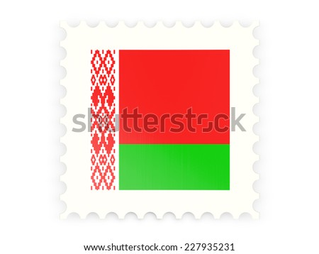 Postage stamp icon of belarus isolated on white