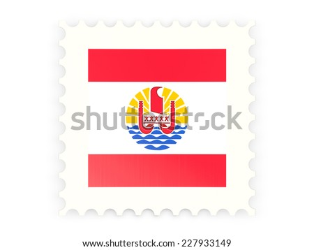 Postage stamp icon of french polynesia isolated on white