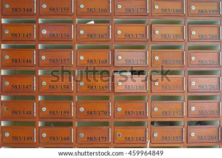 Postal boxes in condominium for informations