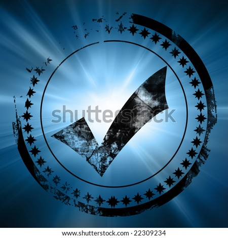 postal stamp on a dark blue background - stock photo