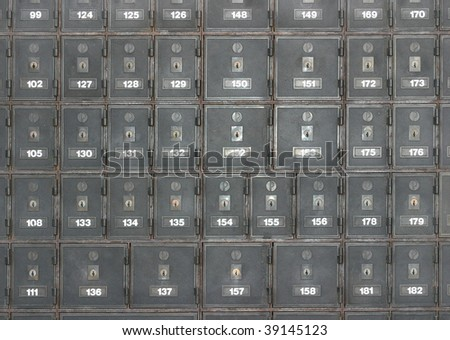 Postboxes of an apartment house - stock photo