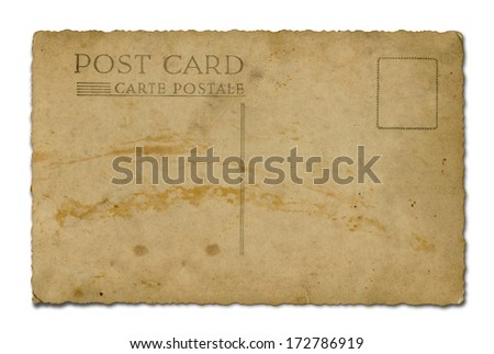 Postcard back - stock photo