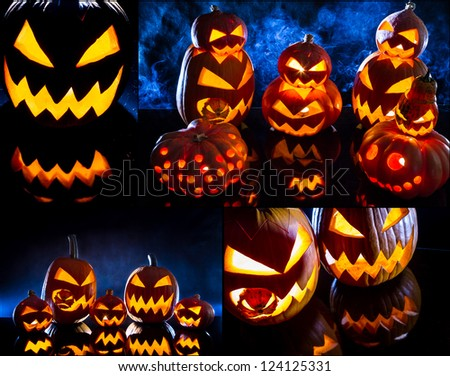 Postcard for the feast of Halloween no. 2 - stock photo