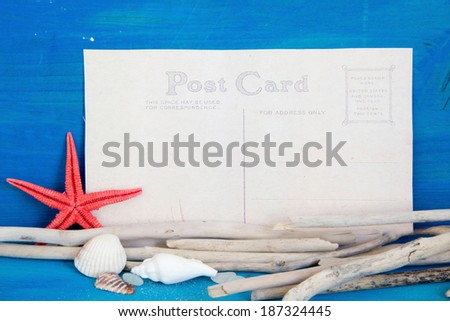 Postcard from the traveler - stock photo