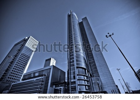 postcard from Warsaw, Poland - stock photo