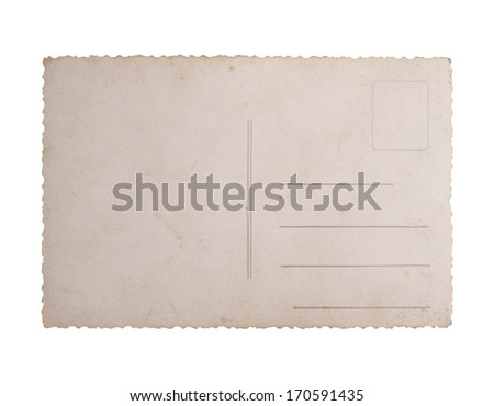 Postcard isolated on white - stock photo