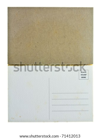 Postcard pad isolated on white background