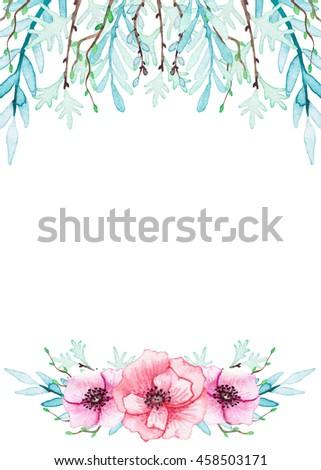 Watercolor Flower Border Im 225 Genes Pagas Y Sin Cargo Y