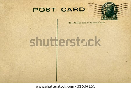 Postcard with Jefferson Stamp - stock photo