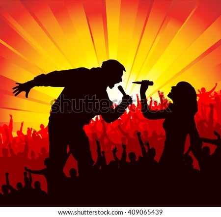 Poster for concerts  - stock photo