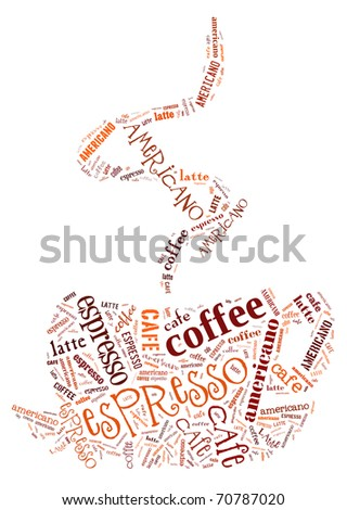 Poster for decorate cafe or coffee shop - stock photo
