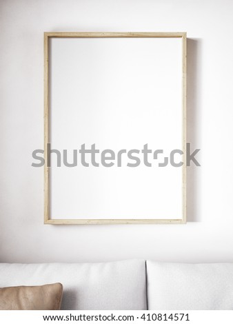 poster frame mockup - stock photo