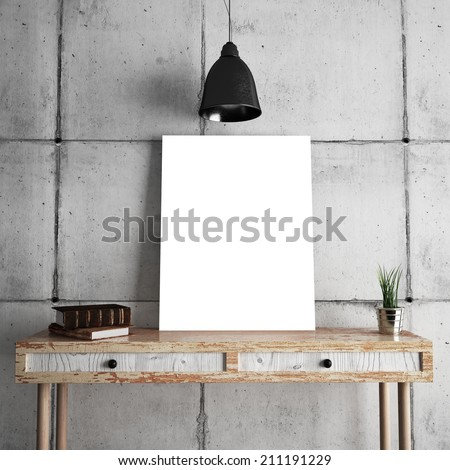 Poster on table - stock photo