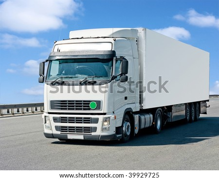 Poster ready truck - stock photo