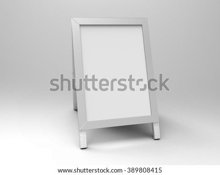 Poster Stand Display 3D Render is a professional 3D render that can be used for various marketing campaigns, as well as brand marketing. - stock photo