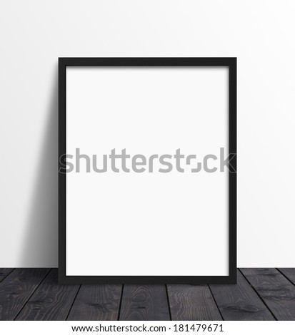 poster standing and white wall