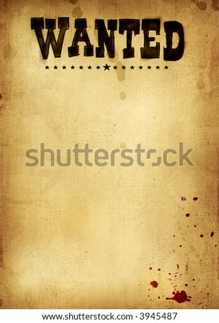 poster wanted - stock photo