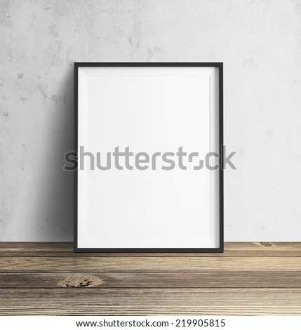 Poster with floor and wall - stock photo