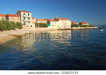 Postira on Brac island, Croatia - stock photo