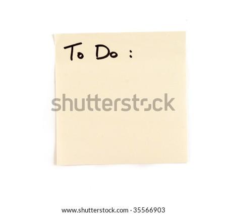 """Postit """"To Do"""" - stock photo"""