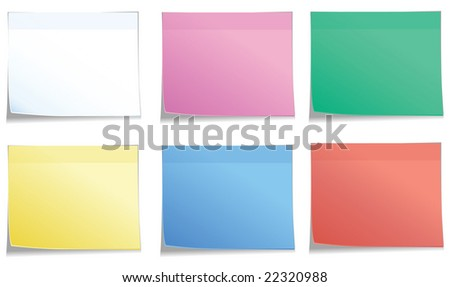 postits in 6 colors