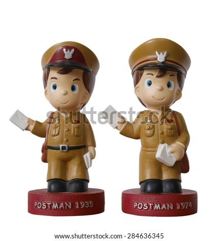 postman Thailand toy  - stock photo