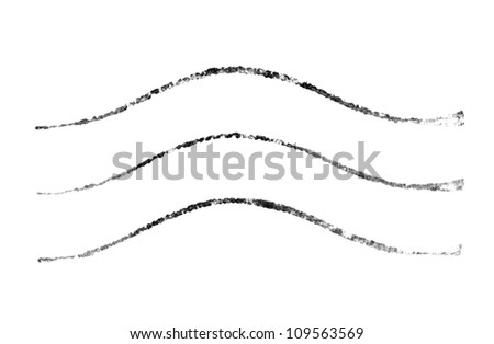 Postmark isolated on a white background - stock photo