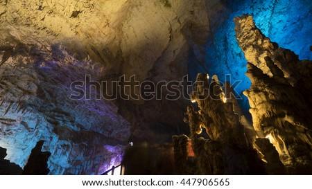 Postojna cave, Slovenia - stock photo
