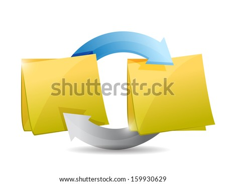 posts cycle illustration design over a white background - stock photo