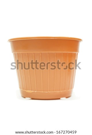 Pot for plant isolated