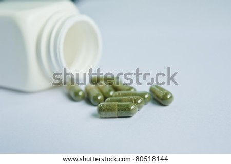 pot of capsule pills