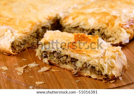 Pot pie with liver - stock photo