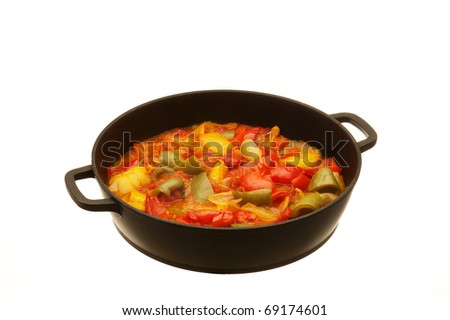 pot with peppers