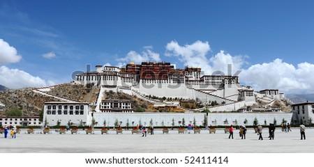 Potala palace in Lhasa - stock photo