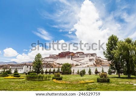 Potala Palace in Lhasa of Tibet, China - stock photo