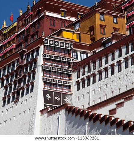 Potala temple - stock photo