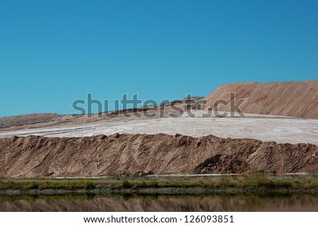 Potash Tailing Hill - stock photo