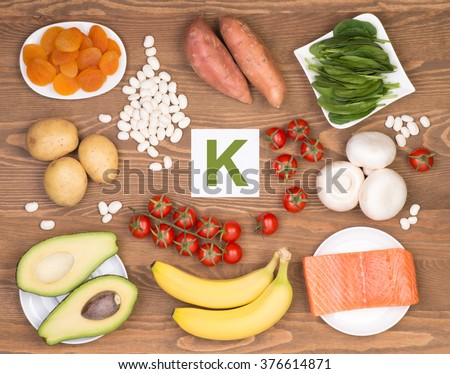 Potassium containing foods - stock photo