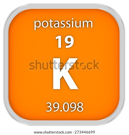 Potassium material on the periodic table. Part of a series.
