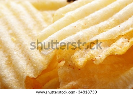 potato chip detail in macro close up