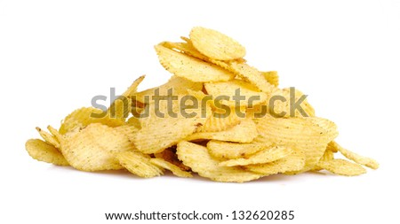 Potato Chip isolated on a white background