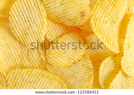 Potato chips background - stock photo