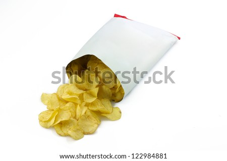 Potato chips bag