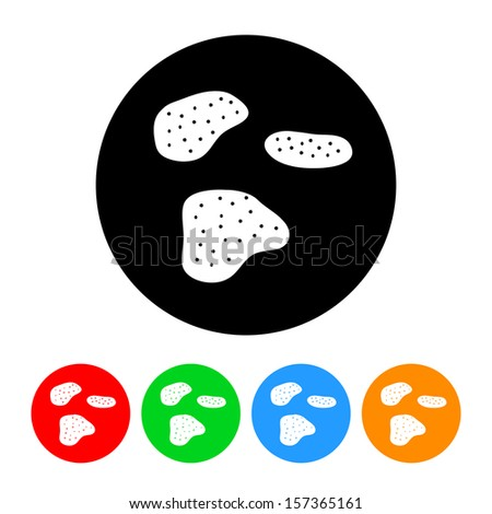 Potato Chips Icon with Color Variations.  Raster version. - stock photo