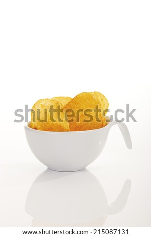 Potato chips in plastic cup