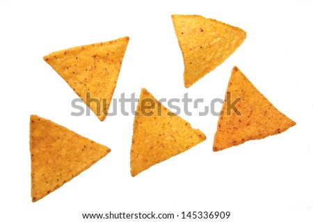 Potato chips on Food and Drink - stock photo