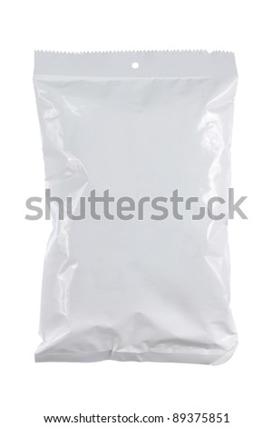 potato chips plastic pack. for another white packaging visit my gallery - stock photo